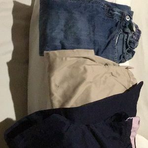 Lot of three girls pants, different sizes